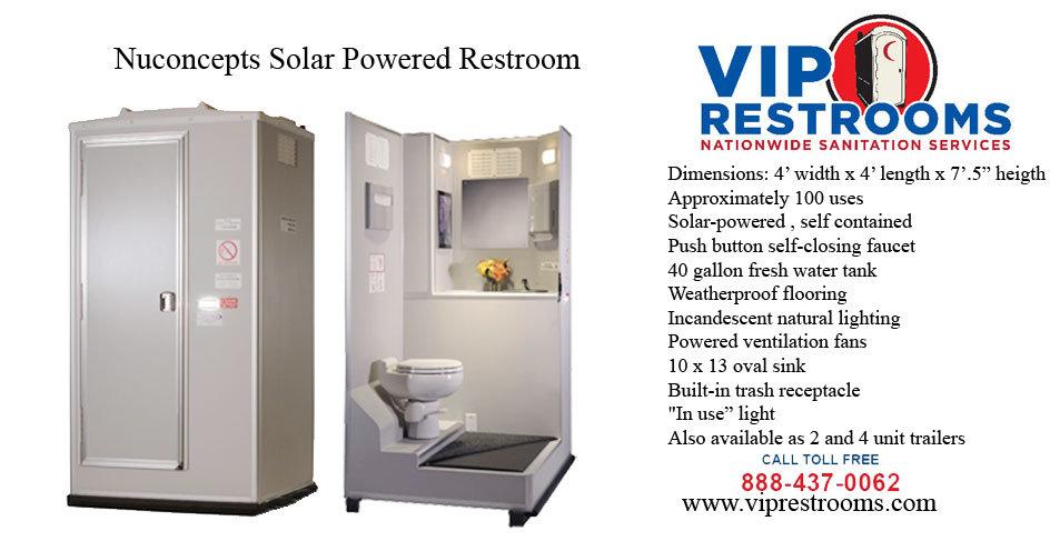 Vip restrooms products mobile restrooms shower for Porta john rental