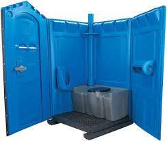 Blue Standard Porta Toilet Disected