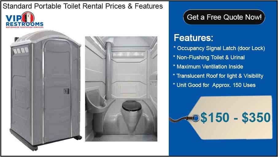 Porta Potty Rental Prices | Portable Toilet Rental Cost