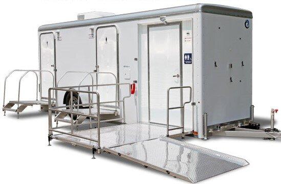 wheelchair accessible restroom trailer